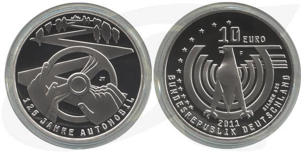 10 Euro 2011 Deutschland Brd 10 Euro Silber 2011 F 125 Jahre