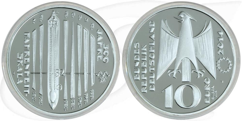 10 Euro 2014 Deutschland Brd 10 Euro Silber 2014 J 300 Jahre