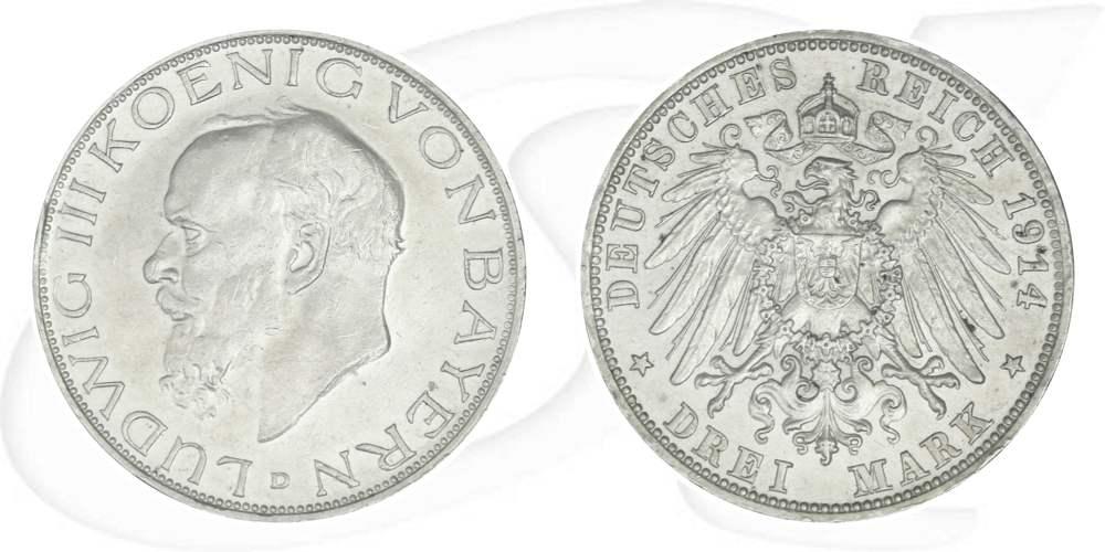 3 Mark 1914 Deutschland Bayern Deutschland Bayern 3 Mark 1914 Vz