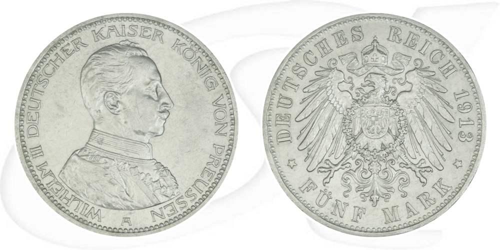 5 Mark 1913 Deutschland Preussen Deutschland Preussen 5 Mark 1913