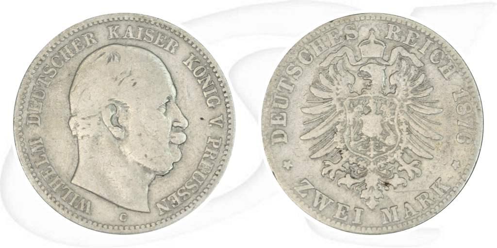 2 Mark 1876 Deutschland Preussen Deutschland Preussen 2 Mark 1876