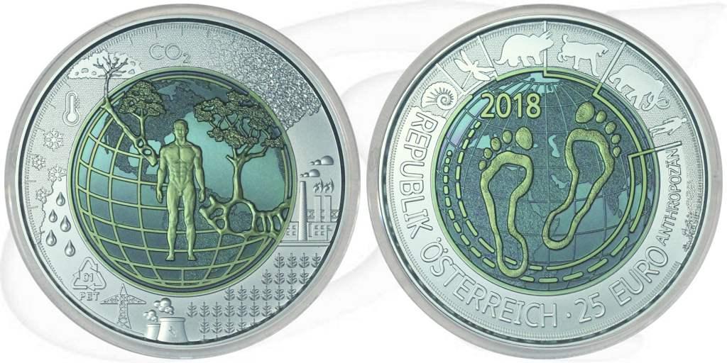 25 Euro 2018 österreich österreich 25 Euro 2018 Niob Anthropozän