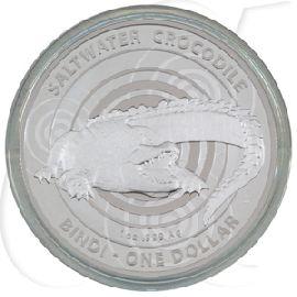 1 Dollar 2013 Salzwasserkrokodil