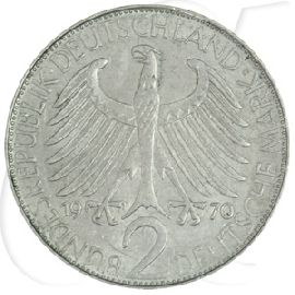 2 Dm Max Planck 1966 F Münze