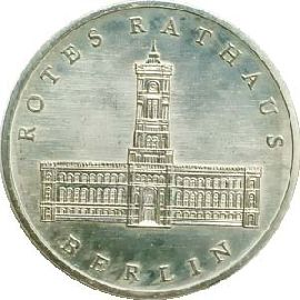 DDR 5 Mark Rotes Rathaus 1987 st