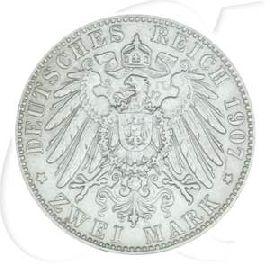 2 Mark Otto 1907 Münze Silber