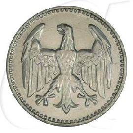 Weimarer Republik 3 Mark 1924 J ss Kursmünze