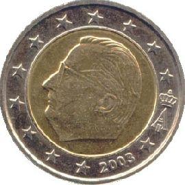 2 Euro Münze Belgien 2000