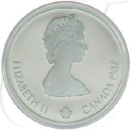Silbermünzen Kanada 1987 Skispringen