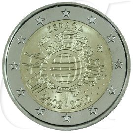 2 Euro Münze Spanien 2012 Bargeld