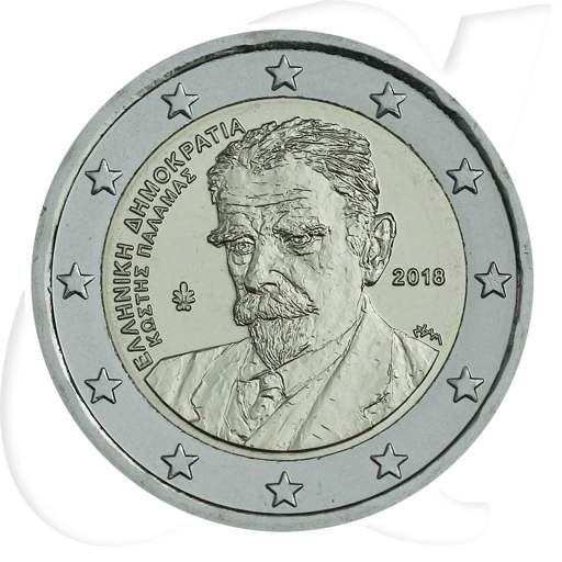 2 Euro Münze Griechenland 2018 Palamas