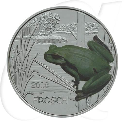 3 Euro Frosch 2018 Tier Taler