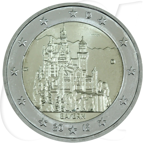 2 Euro Münze 2012 Deutschland Neuschwanstein