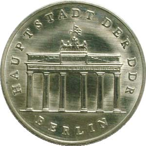 DDR 5 Mark Brandenburger Tor 1971 vz
