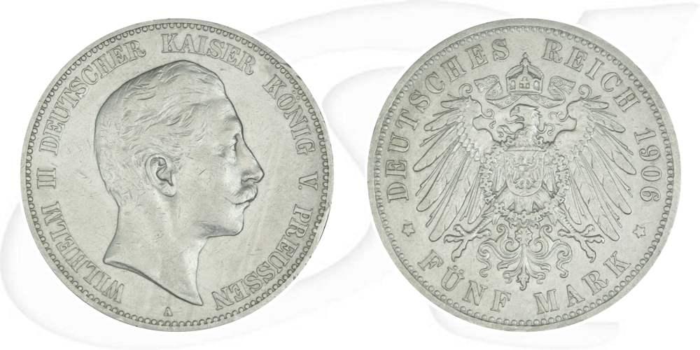 5 Mark Deutsches Reich Preussen 1906