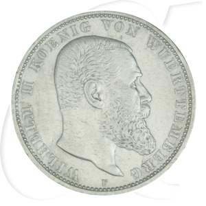 5 Mark Württemberg Wilhelm Ii 1907