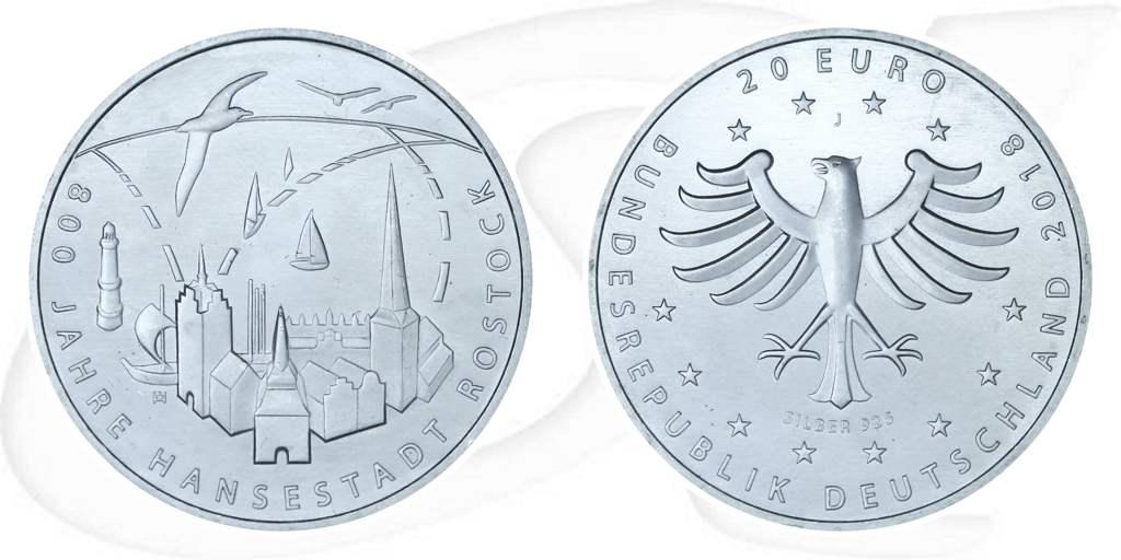 20 Euro Münze 2018 Rostock