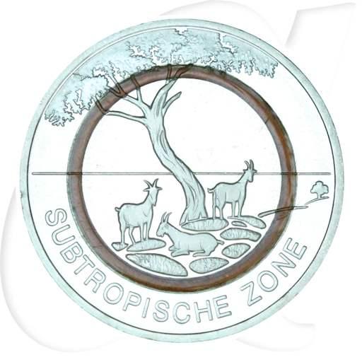 5 Euro Münze 2018 Subtropische Zone