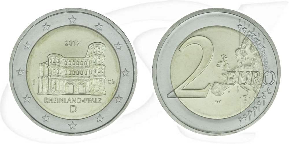2 Euro Münze 2017 Porta Nigra