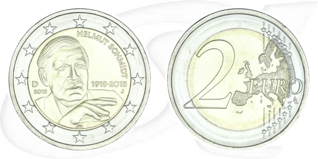 2 Euro Münzen 2018 Helmut Schmidt