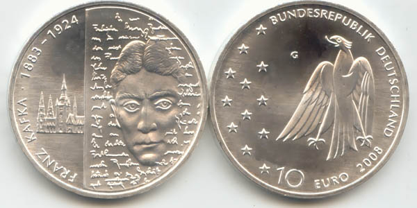 10 Euro Münze 2008 Kafka