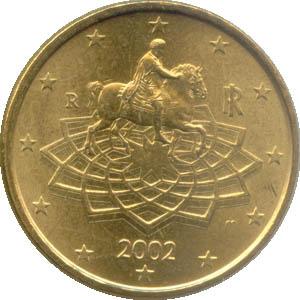 50 Cent Münze Italien 2002