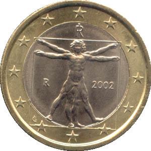 1 Euro Münze Italien 2002