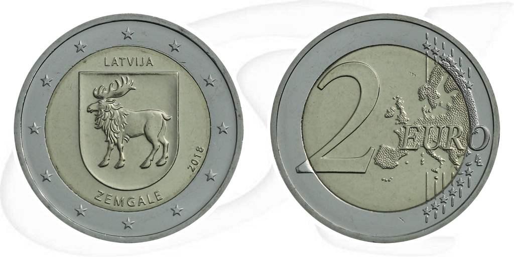 2 Euro Münze Lettland 2018 Semgallen