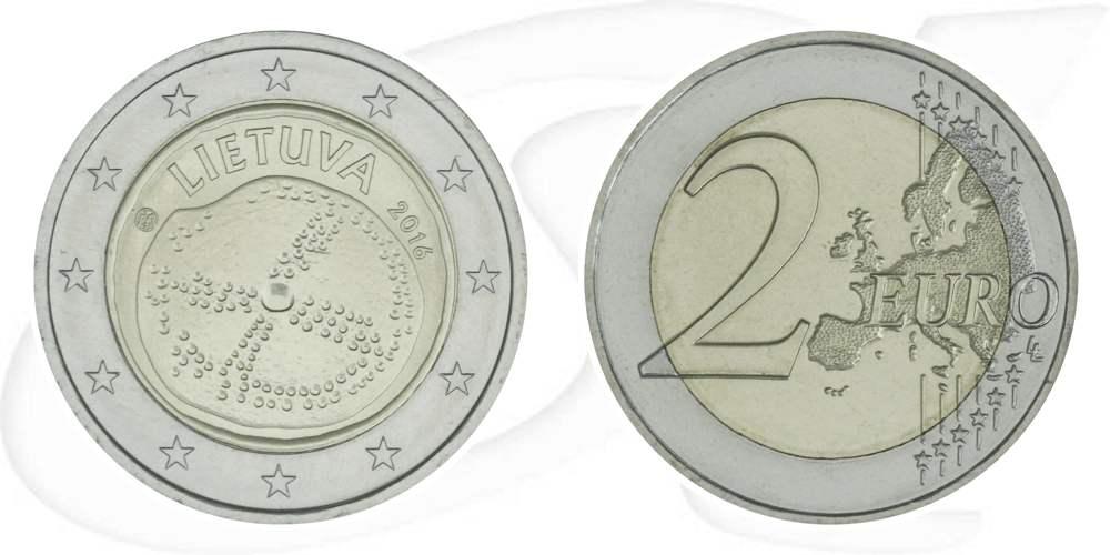 2 Euro Münze Litauen 2016 Kultur