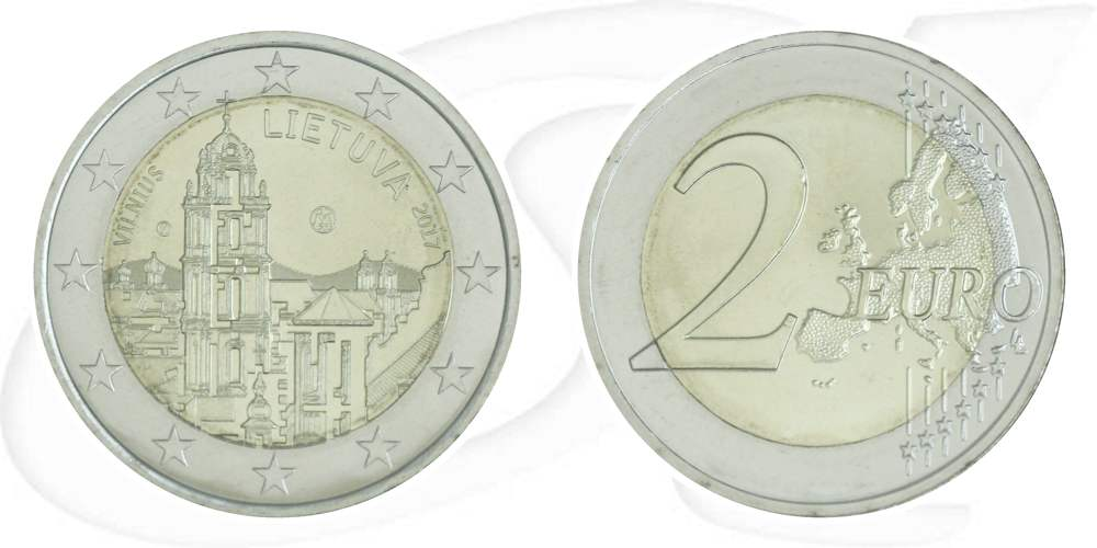 2 Euro Münze Litauen 2017 Vilnius
