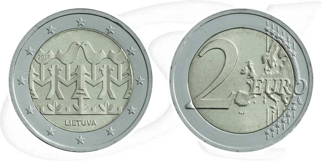 2 Euro Münze Litauen 2018 Gesangsfestival