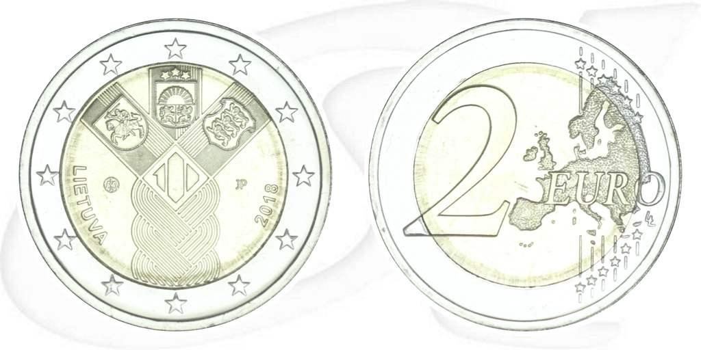 2 Euro Münze Litauen 2018 Unabhängigkeit